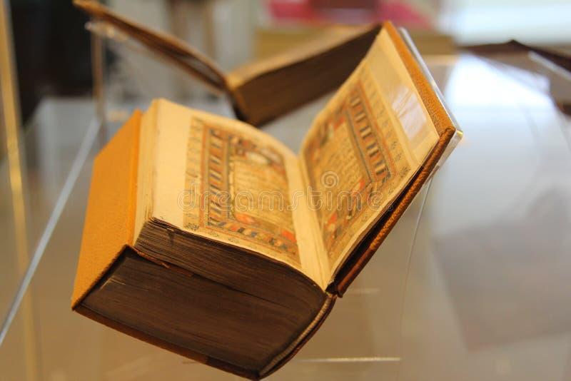圣洁古兰经的启示在显示的在博物馆 免版税库存照片