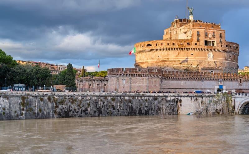 圣洁天使圣天使城堡的城堡在罗马 库存图片