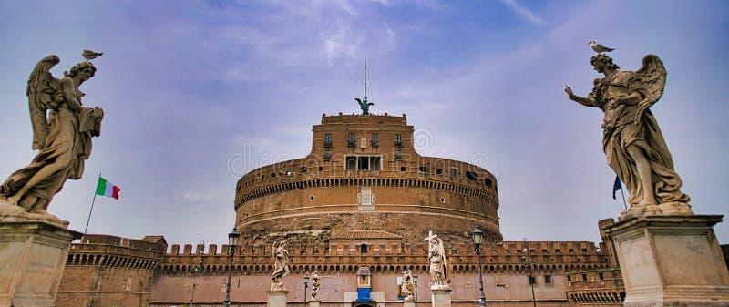 圣洁天使城堡在罗马,意大利 库存图片