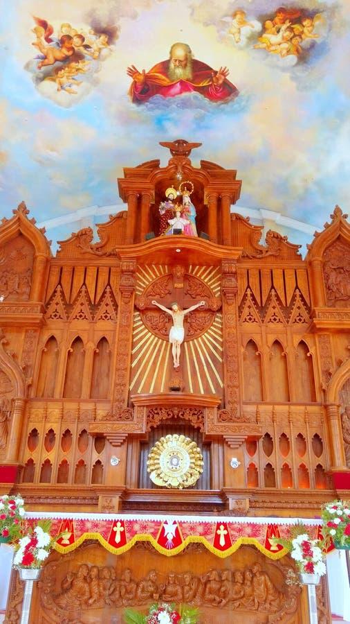 圣洁家庭教会耶稣 免版税库存图片