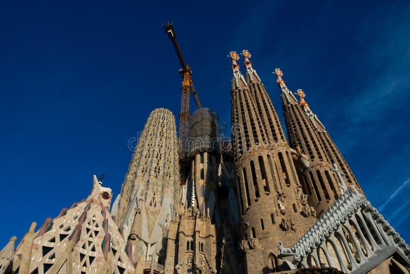 圣洁家庭Templo Expiatorio de la Sagrada Familia的赎罪的教会 免版税库存图片