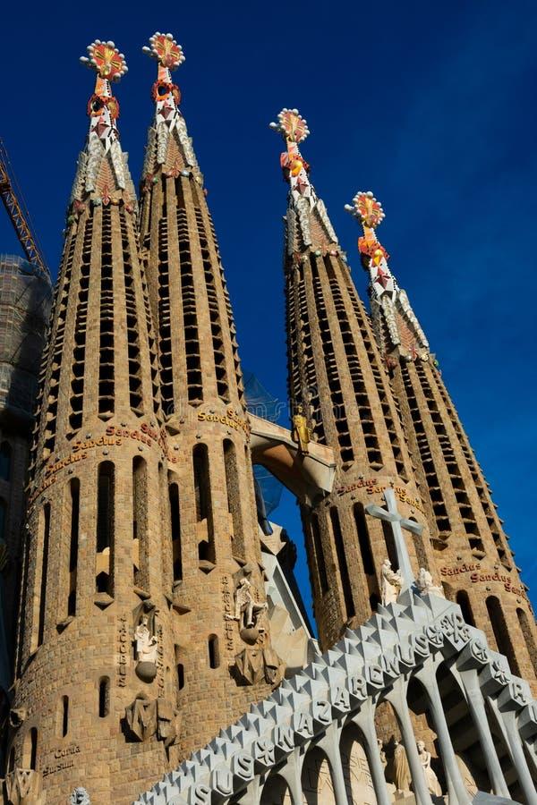 圣洁家庭Templo Expiatorio de la Sagrada Familia的赎罪的教会 库存照片