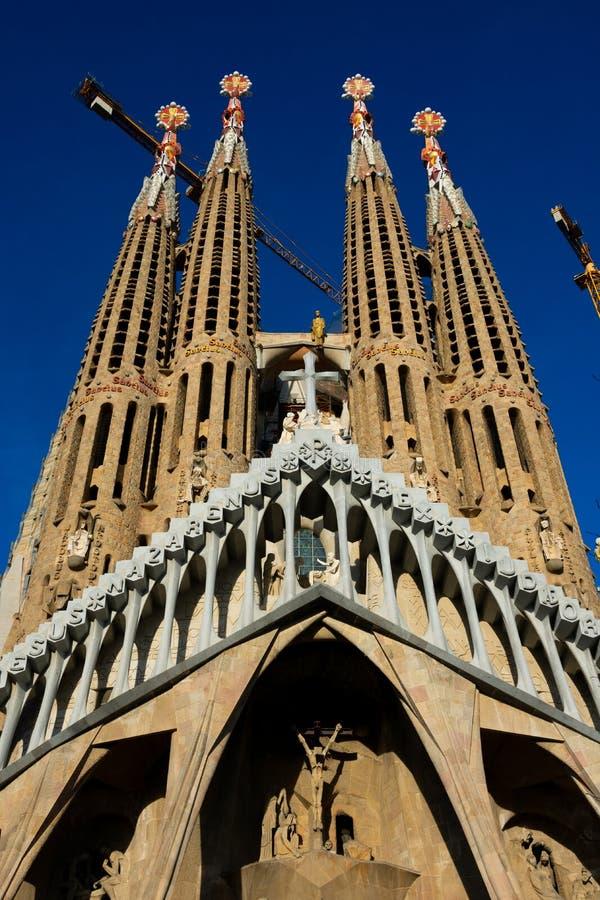 圣洁家庭Templo Expiatorio de la Sagrada Familia的赎罪的教会 免版税图库摄影