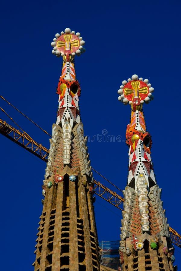 圣洁家庭Templo Expiatorio de la Sagrada Familia的赎罪的教会 免版税库存照片