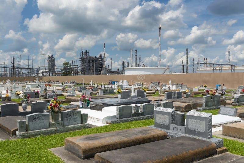 塔夫脱,路易斯安那- 2014年6月20日:圣洁念珠公墓的看法在塔夫脱图片