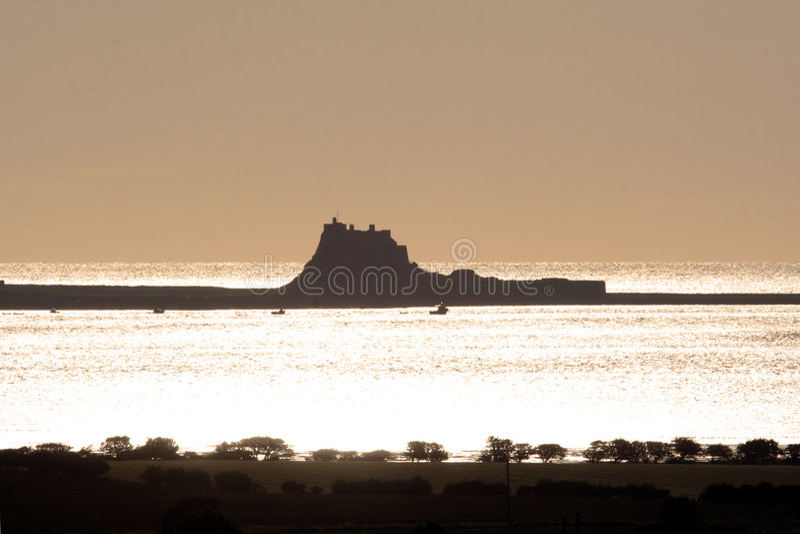圣洁海岛northumberland 库存照片