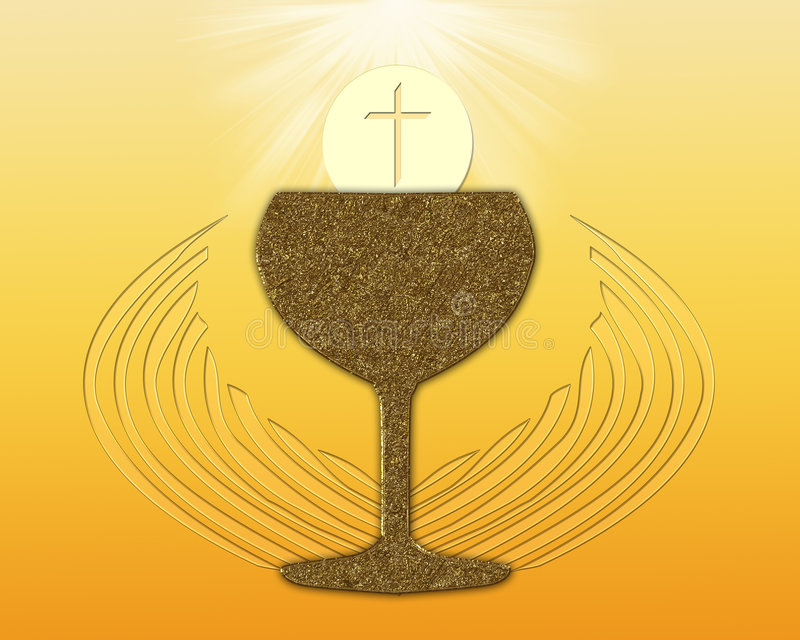 圣洁的圣餐 皇族释放例证