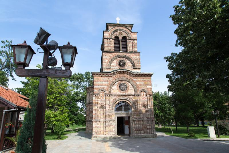 圣洁第一个受难者斯蒂芬, Lazarica的教会 图库摄影