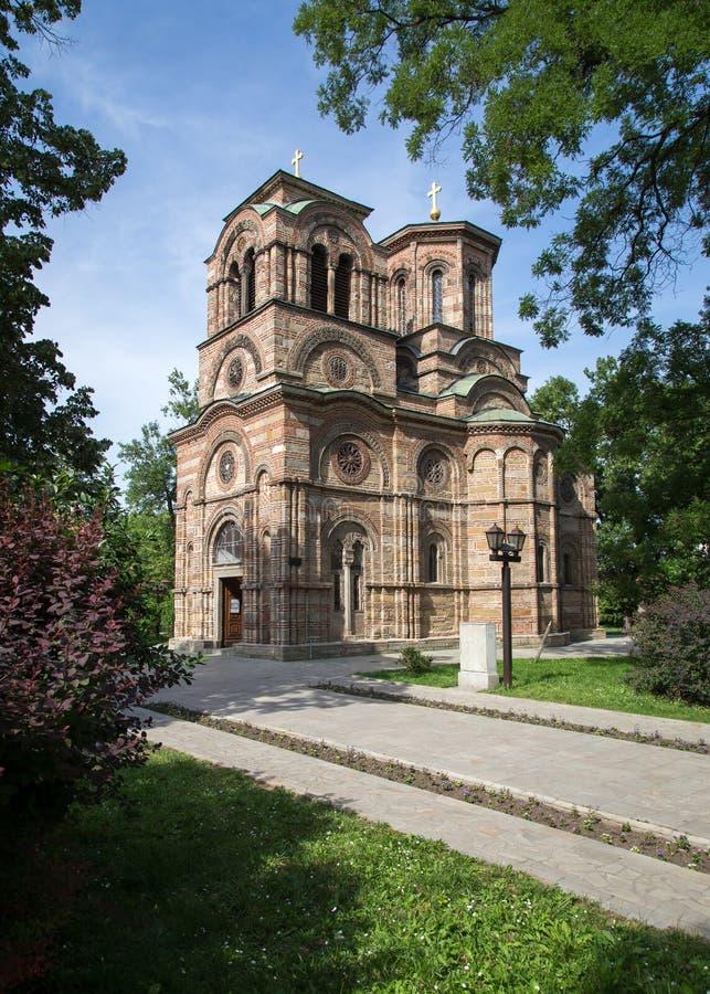 圣洁第一个受难者斯蒂芬, Lazarica的教会 库存照片