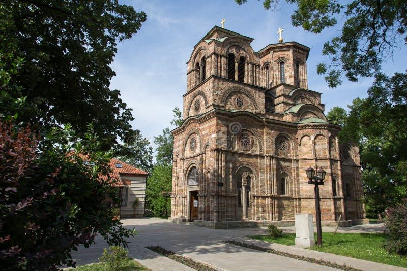 圣洁第一个受难者斯蒂芬, Lazarica的教会 库存图片