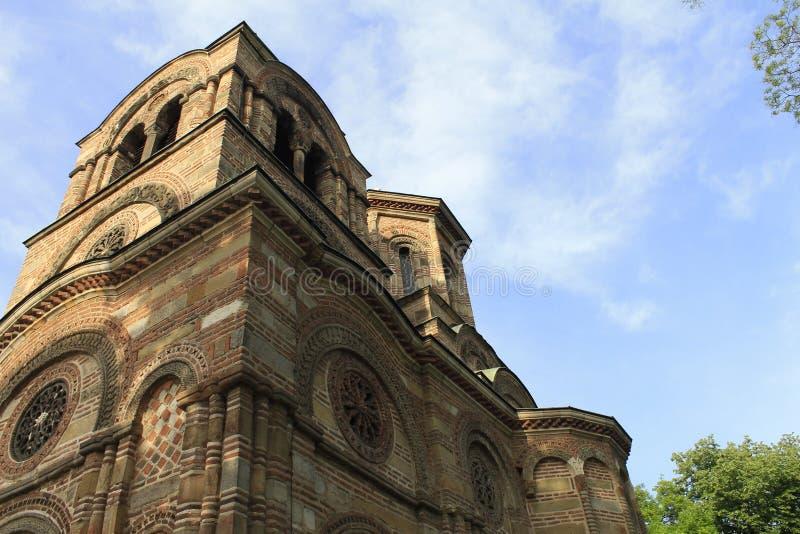 圣洁第一个受难者斯蒂芬,Lazarica的教会 免版税库存照片