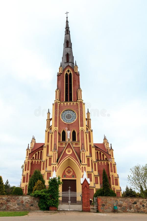 圣洁纽约三一教堂在Gervyat白俄罗斯 免版税库存照片