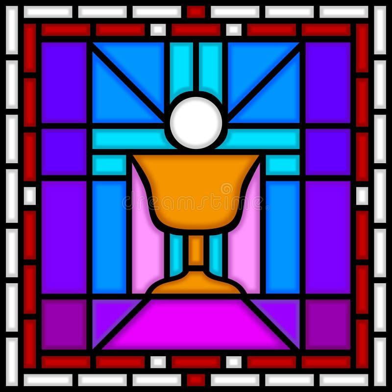 圣洁酒杯的圣餐 向量例证