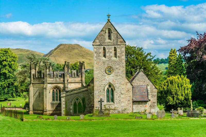 圣洁阴级射线示波器的教会在伊拉姆省,斯塔福德郡,英国 免版税库存照片