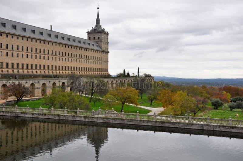 圣洛伦佐de El Escorial,马德里皇家修道院  图库摄影