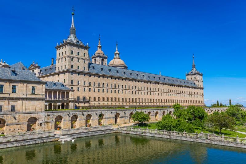 圣洛伦索德埃莱斯科里亚尔皇家修道院在马德里,西班牙附近的 免版税图库摄影