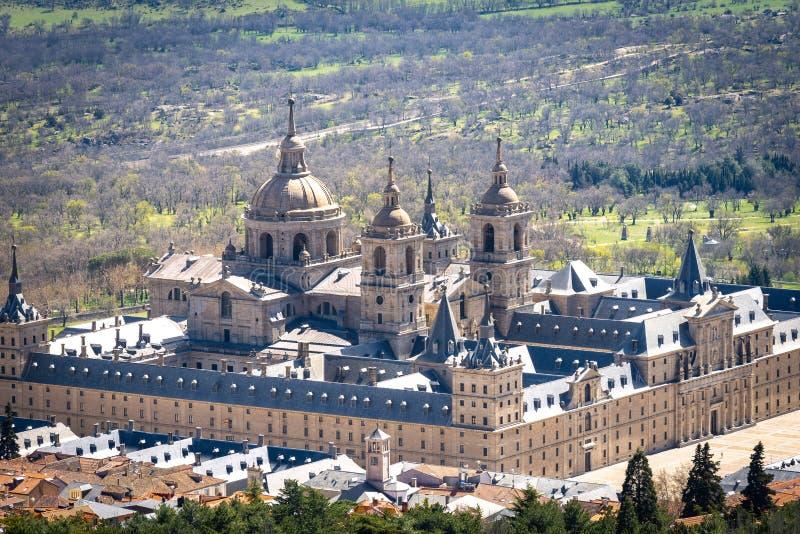 圣洛伦索德埃莱斯科里亚尔,马德里,西班牙皇家修道院  库存图片