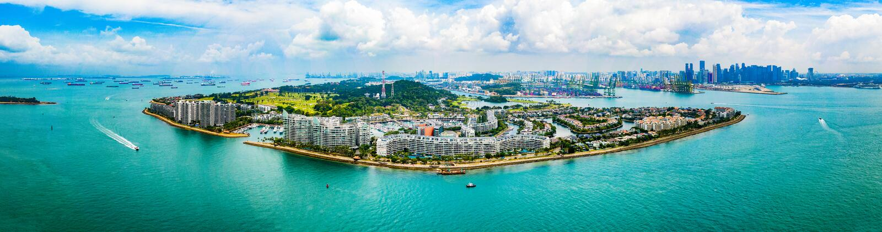 圣淘沙海岛新加坡-嬉闹 库存照片