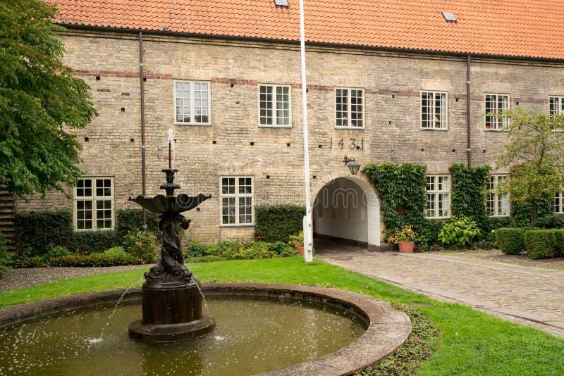 圣灵的医院在奥尔堡,丹麦 图库摄影