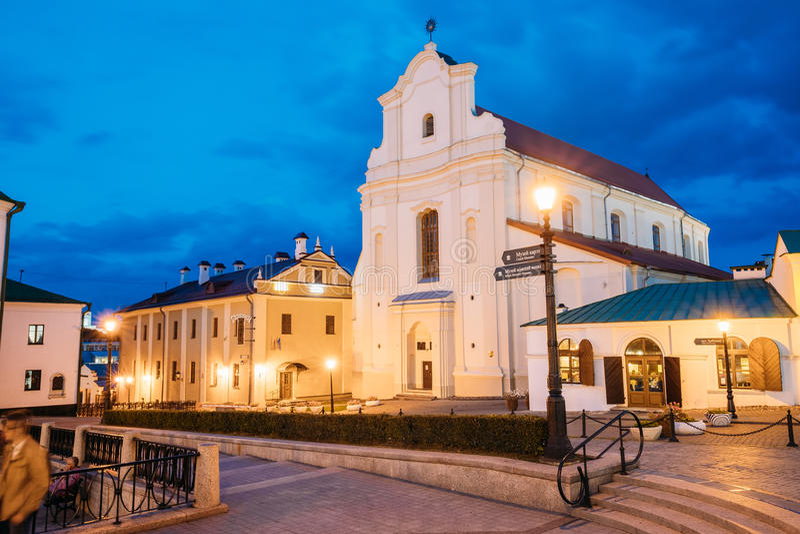 圣灵Bazilianok修道院在米斯克,白俄罗斯 Nemiga或 免版税库存照片