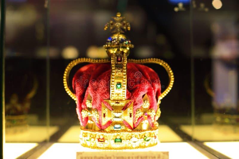圣爱德华的冠的模仿1651 免版税库存图片