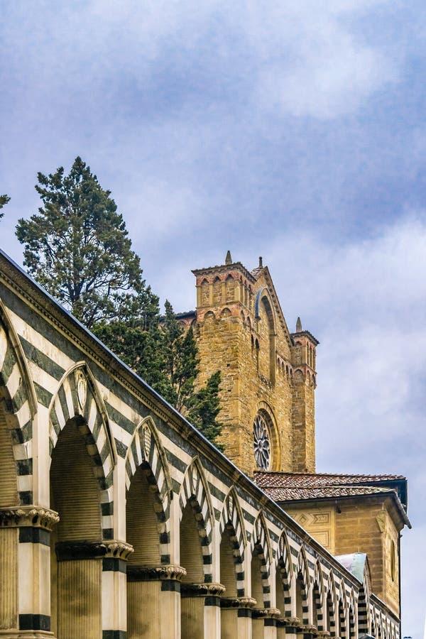 圣玛丽亚中篇小说教会外部细节视图 库存照片