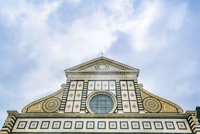 圣玛丽亚中篇小说教会外部细节视图 免版税图库摄影