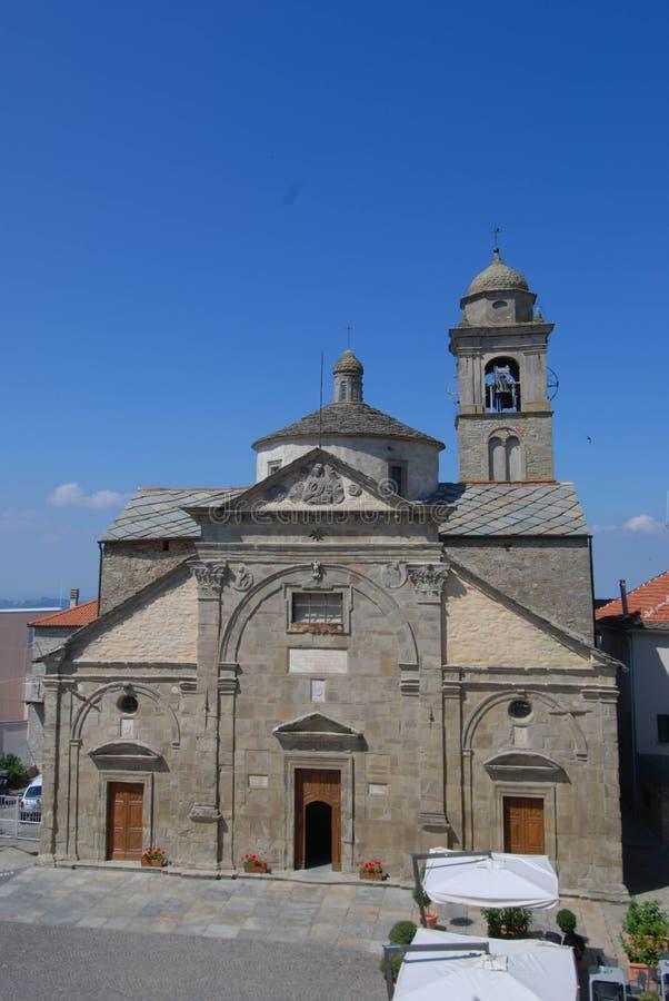 圣玛丽亚安农齐亚塔,罗卡韦拉诺-意大利教会  免版税库存图片