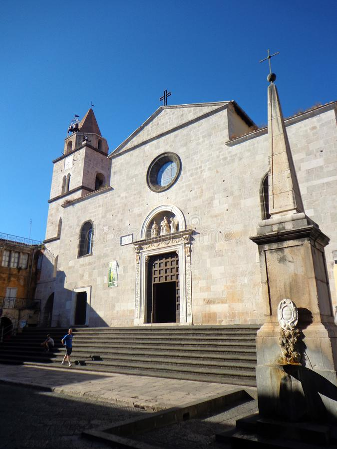 圣玛丽亚教会广场的在丰迪,意大利 图库摄影