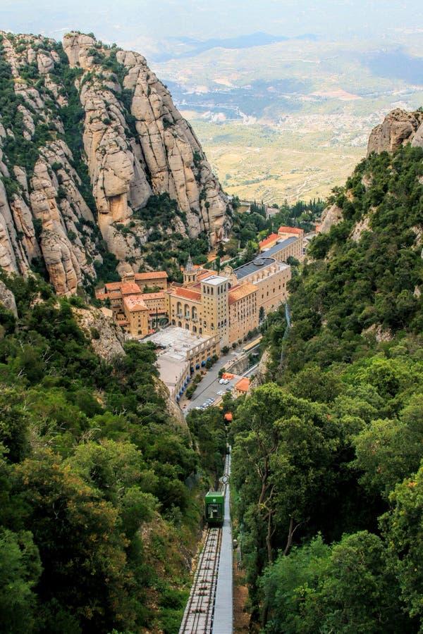 圣玛丽亚de蒙特塞拉特修道院 库存图片