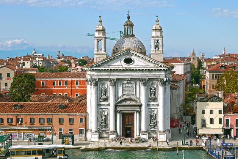 圣玛丽亚del罗萨里奥(Gesuati),威尼斯教会  意大利 库存图片
