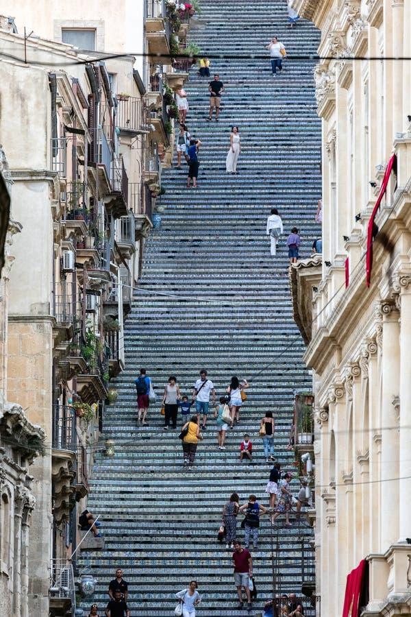 圣玛丽亚del Monte楼梯  免版税库存图片