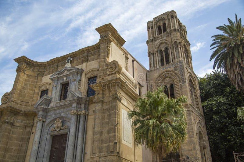 圣玛丽亚dell'Ammiraglio教会在巴勒莫 库存照片