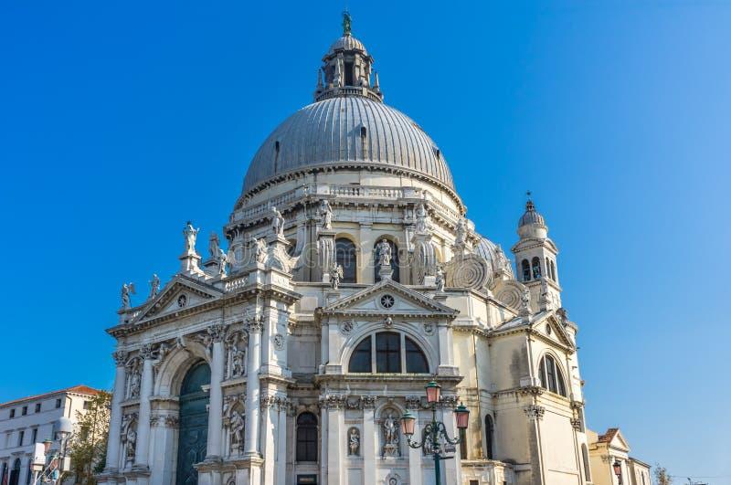 圣玛丽亚della致敬教会大教堂圆顶威尼斯意大利 免版税库存照片