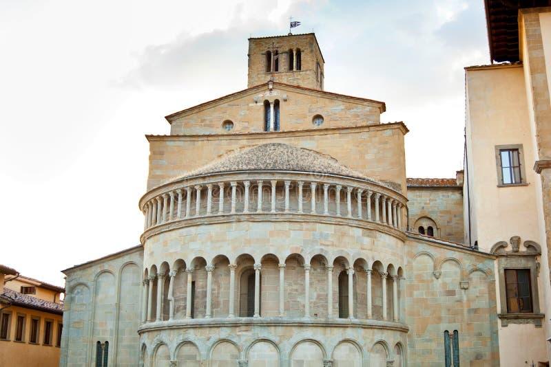 圣玛丽亚della Pieve在阿雷佐 免版税库存照片