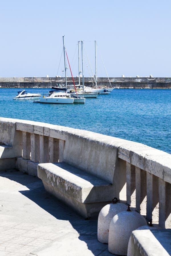 圣玛丽亚di Leuca,南意大利小港  免版税库存图片
