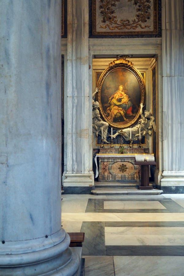 圣玛丽大教堂主要在罗马,意大利 免版税图库摄影