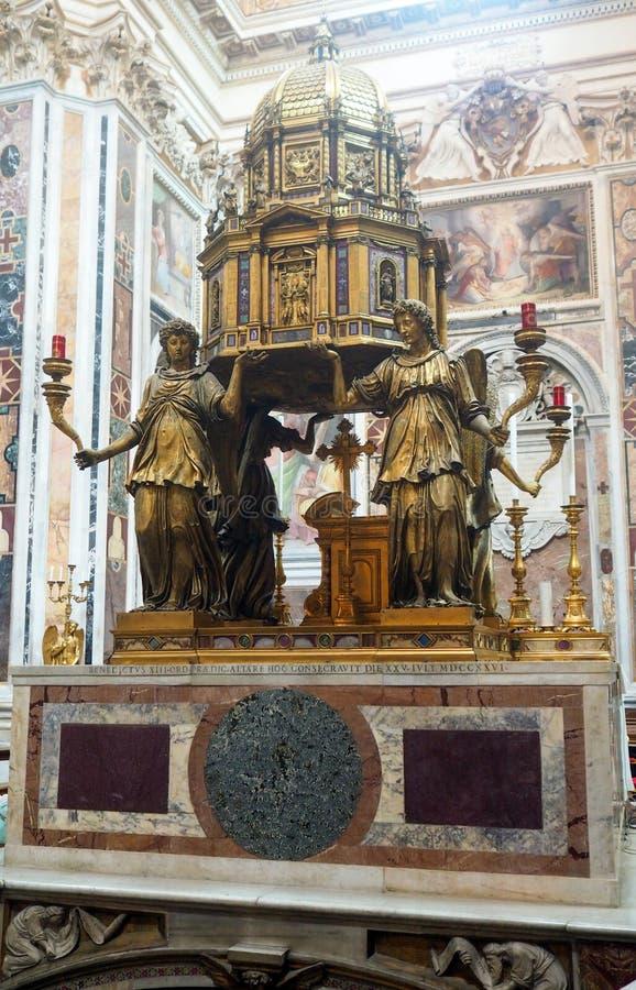 圣玛丽大教堂主要在罗马,意大利 免版税库存图片