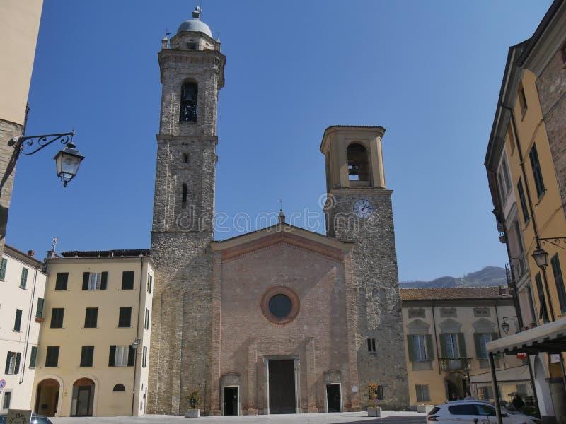 圣玛丽大教堂在博比奥 免版税库存图片