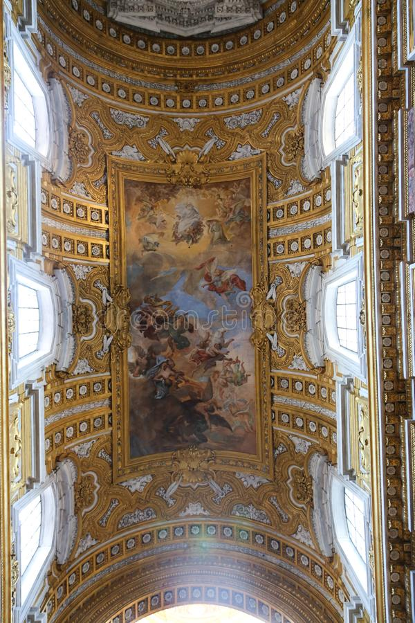 圣玛丽大教堂-意大利少校艺术  免版税图库摄影