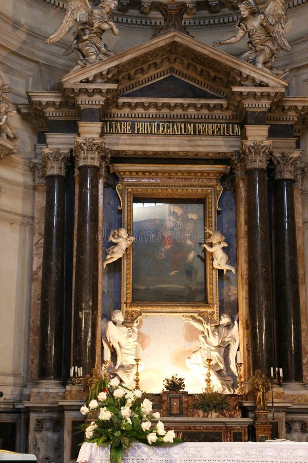 圣玛丽大教堂-罗马少校绘画  免版税库存照片