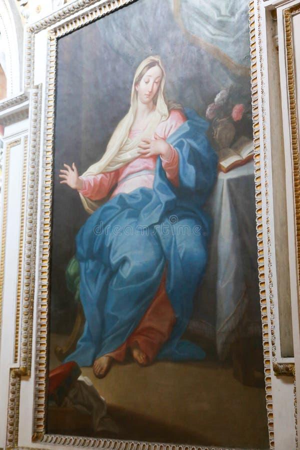 圣玛丽大教堂-罗马少校艺术  库存照片