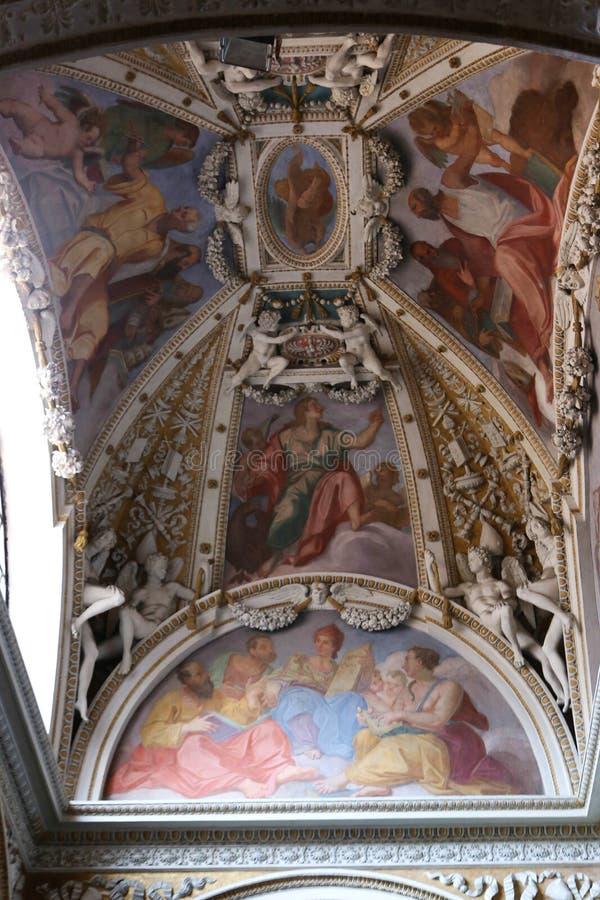 圣玛丽大教堂-罗马少校艺术  免版税库存照片