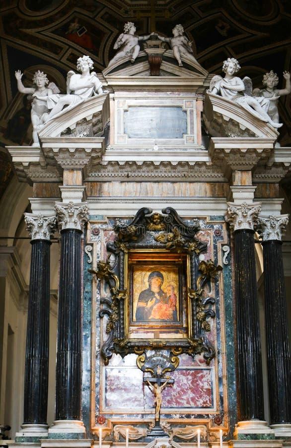 圣玛丽大教堂-罗马少校艺术  图库摄影