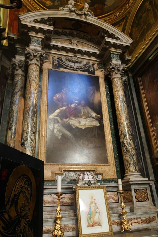 圣玛丽大教堂-罗马少校艺术  免版税库存图片