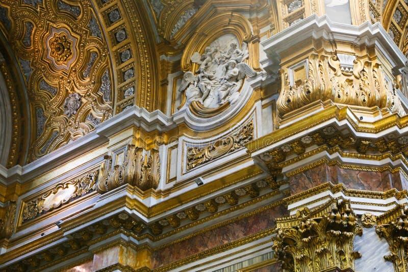 圣玛丽意大利少校,大教堂艺术  免版税库存图片