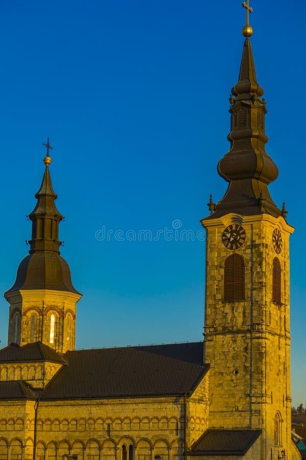 圣玛丽教会在斯雷姆斯卡卡梅尼察,塞尔维亚 库存照片