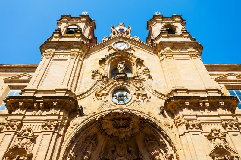 圣玛丽教会,圣塞瓦斯蒂安 免版税库存照片