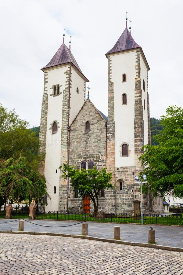 圣玛丽教会, Bergan 免版税库存图片
