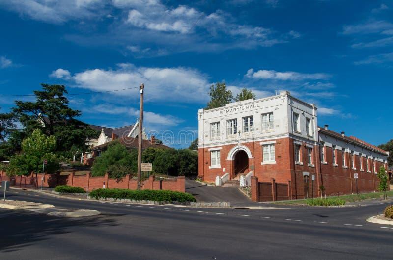 圣玛丽的天主教堂在Castlemaine 库存照片